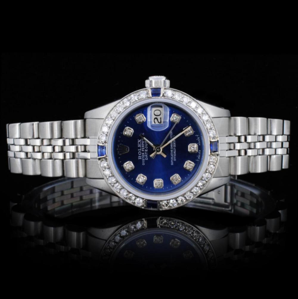 Rolex SS DateJust Ladies 1.00ct Diamond Watch