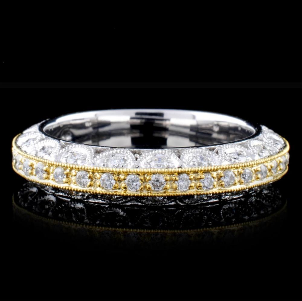18K Two-Tone 0.72ctw Diamond Ring