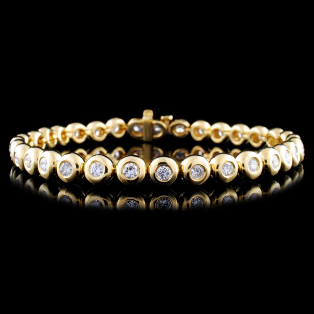 18K Gold 2.67ctw Diamond Bracelet