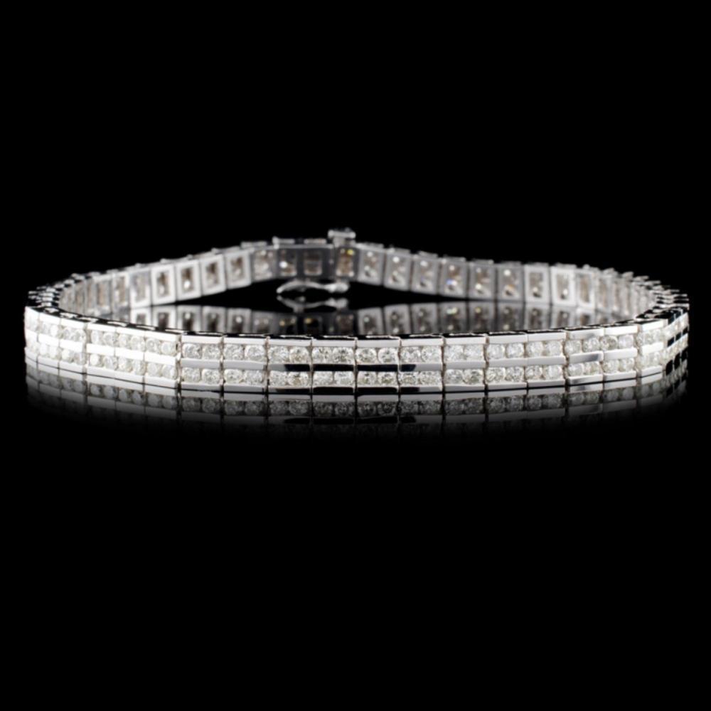 14K White Gold 4.57ctw Diamond Bracelet