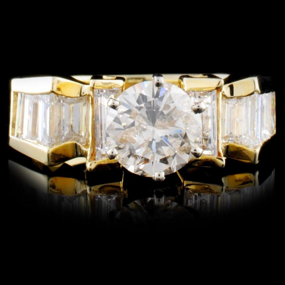 14K Yellow Gold 2.21ctw Diamond Ring