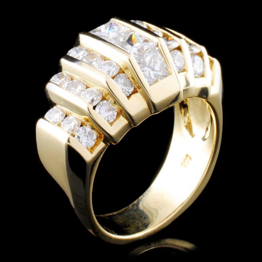 14K Yellow Gold 2.60ctw Diamond Ring