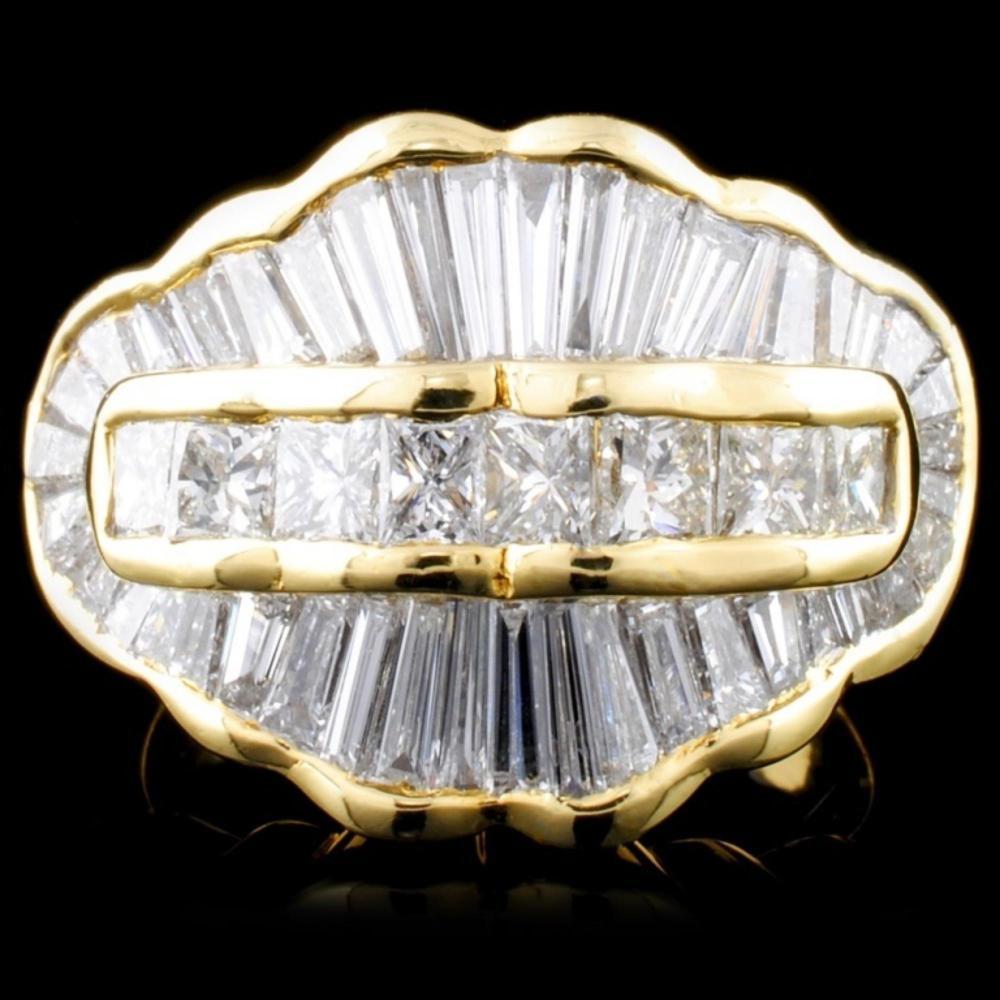 14K Yellow Gold 4.28ctw Diamond Ring