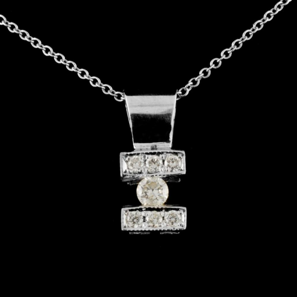 14K Gold 0.34ctw Diamond Pendant