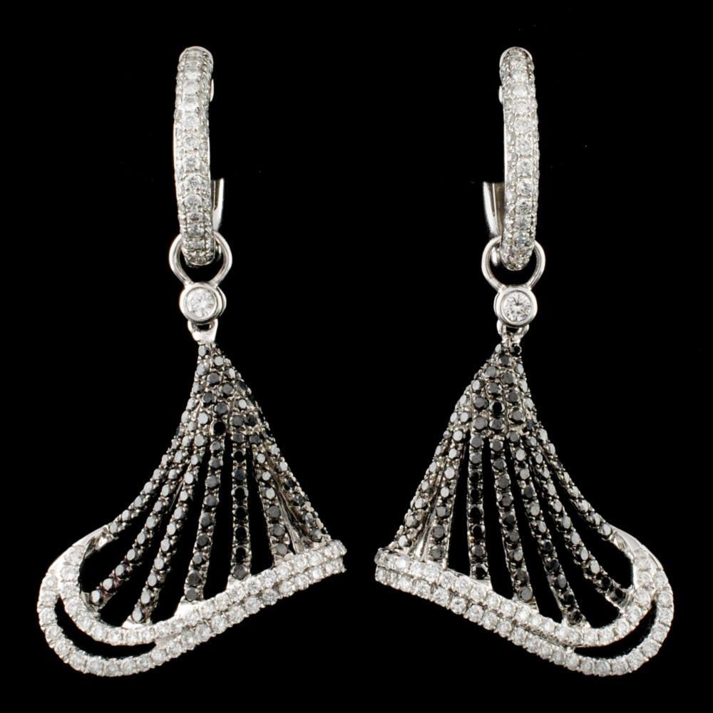 18K Gold 2.15ctw Diamond Earrings