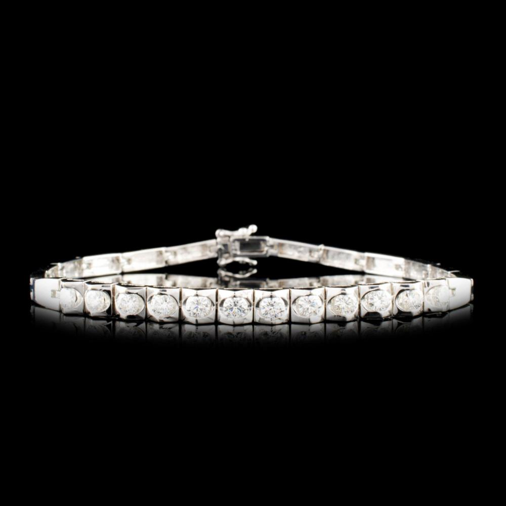 18K Gold 1.53ctw Diamond Bracelet