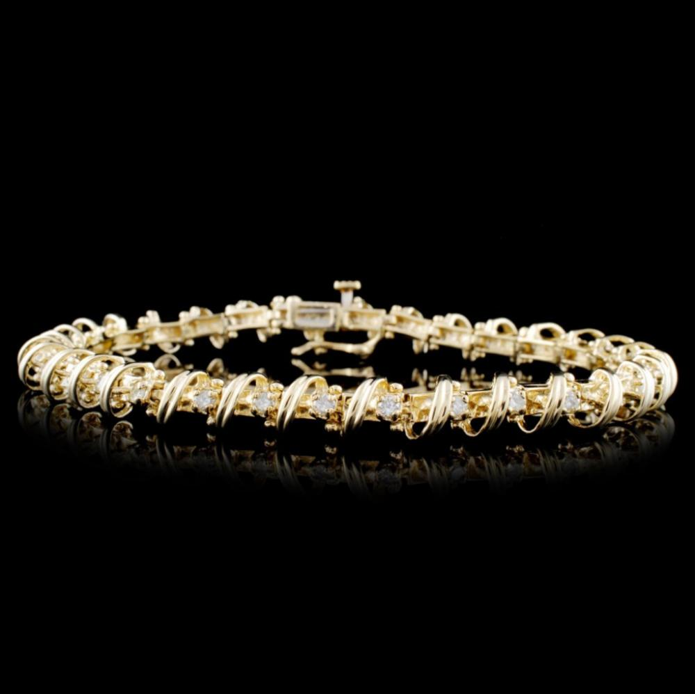 14K Yellow Gold 1.00ctw Diamond Bracelet