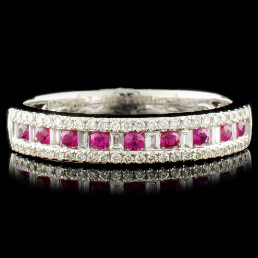 14K Gold 0.19ct Ruby & 0.25ctw Diamond Ring