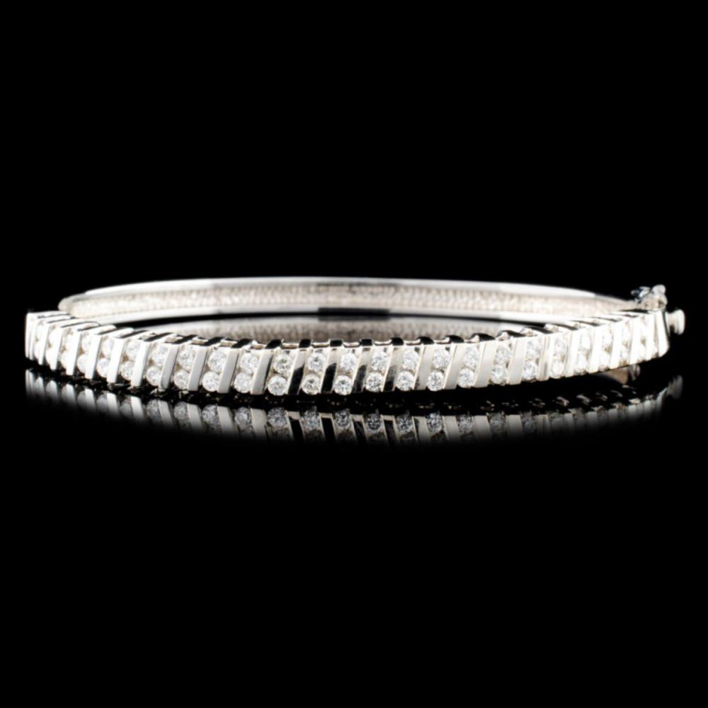 14K Gold 1.20ctw Diamond Bracelet
