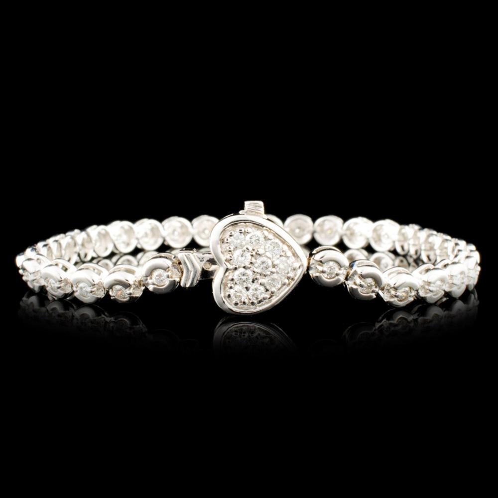 14K Gold 1.18ctw Diamond Bracelet