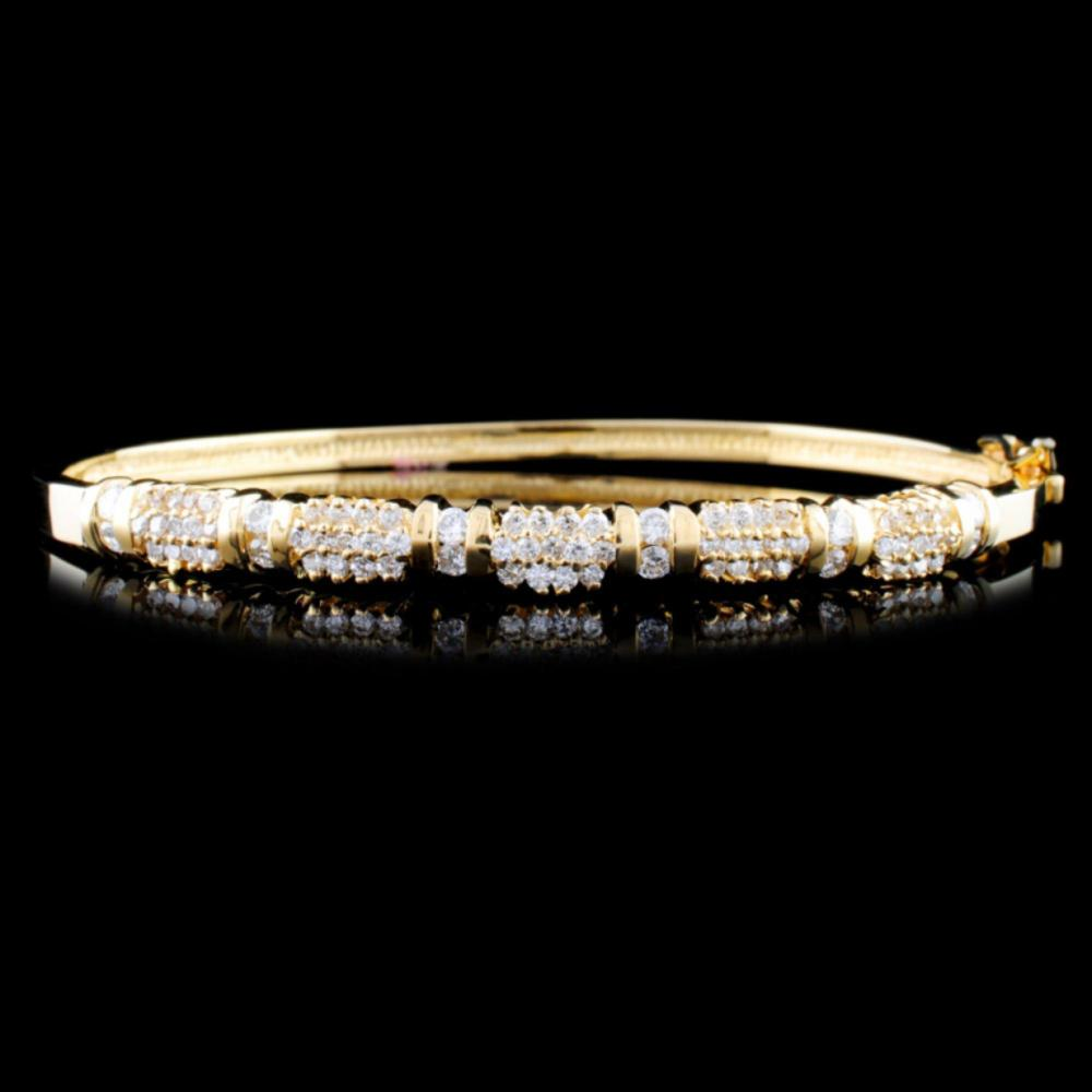 14K Gold 1.31ctw Diamond Bracelet
