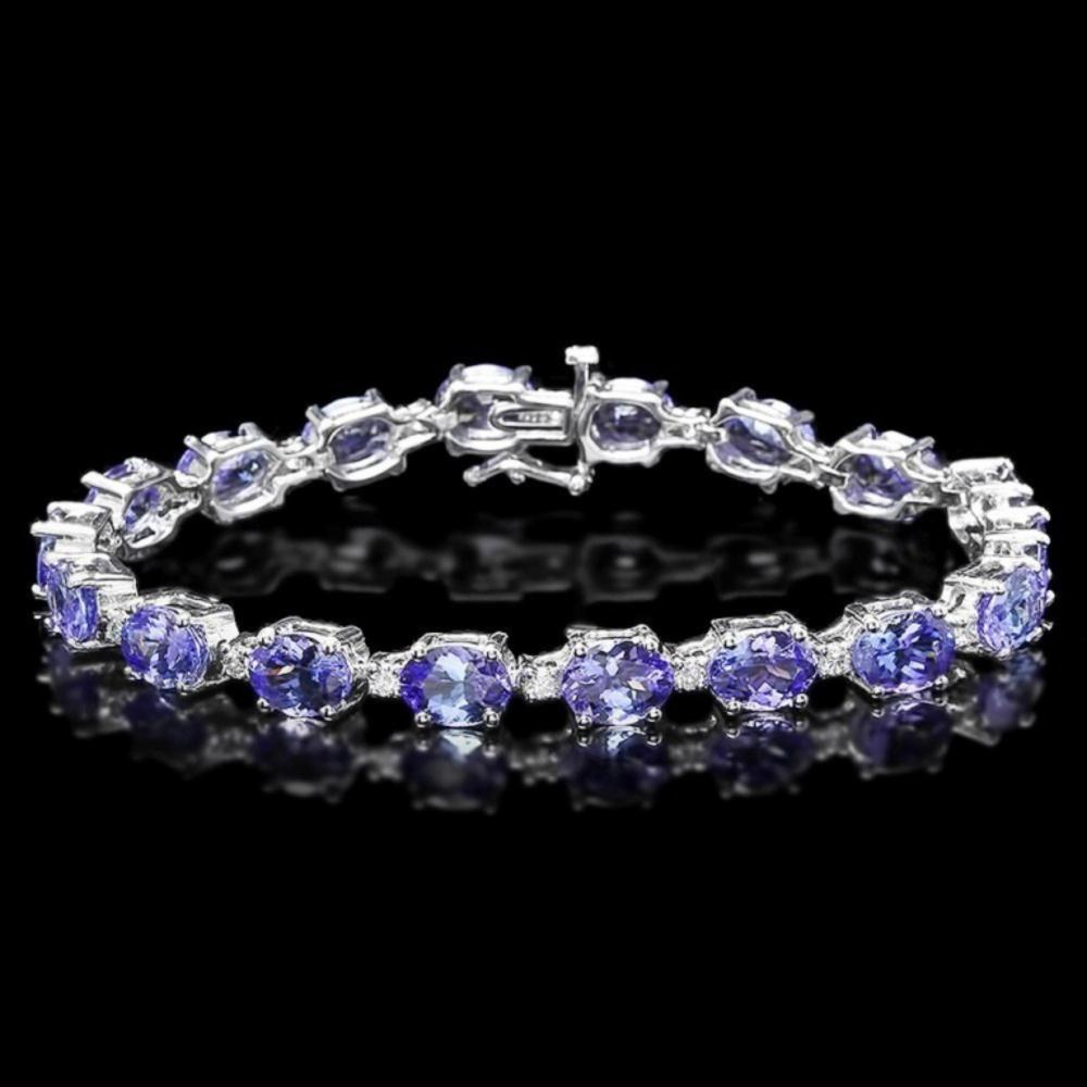 `14k Gold 19.00ct Tanzanite & 0.75ct Diamond Brace