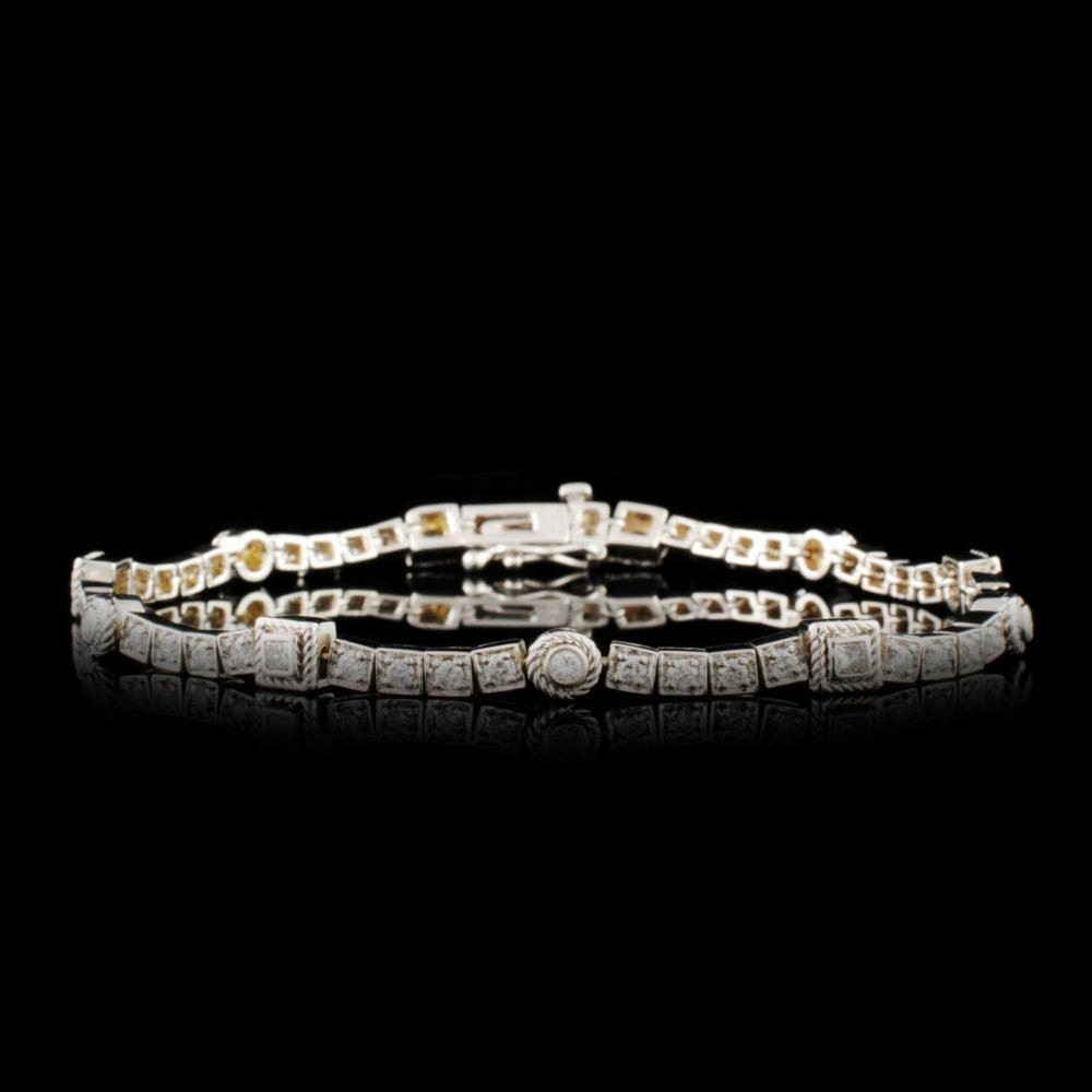 14K Gold 0.92ctw Diamond Bracelet