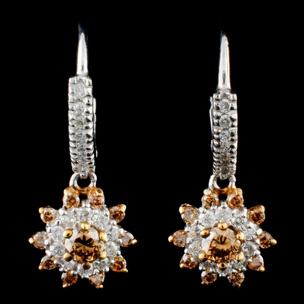 14K Gold 0.92ctw Diamond Earrings