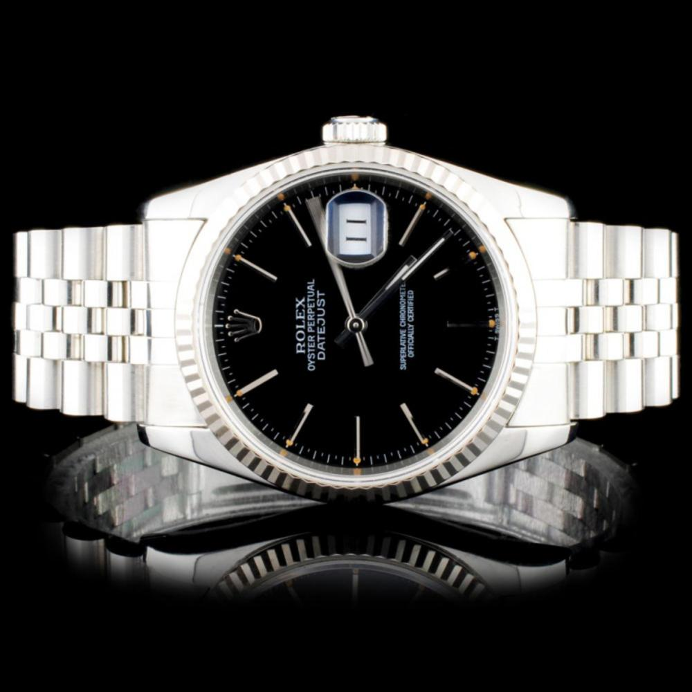 Rolex SS DateJust 36MM Wristwatch