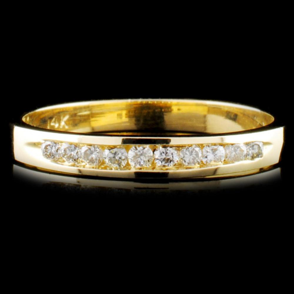 14K Gold 0.18ctw Diamond Ring