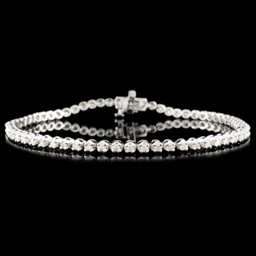 14K Gold 1.00ctw Diamond Bracelet