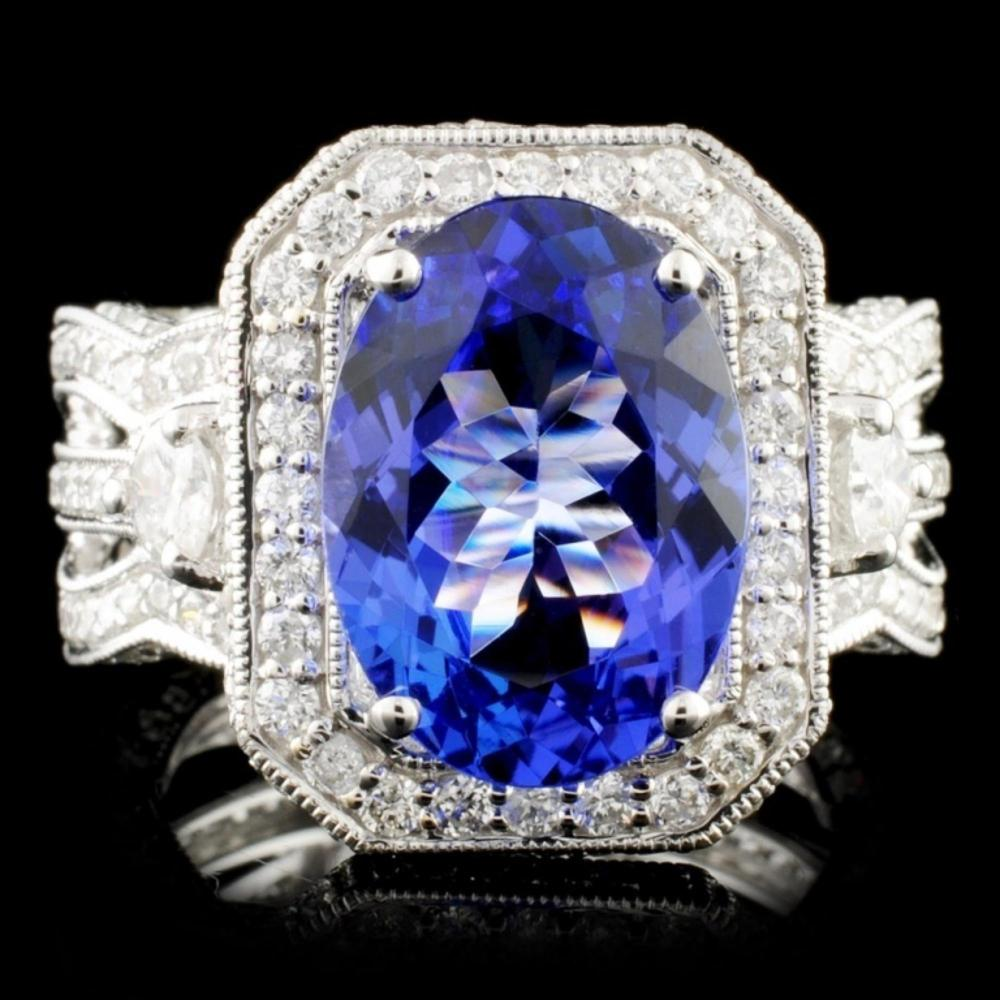 18K Gold 4.66ct Tanzanite & 2.26ctw Diamond Ring