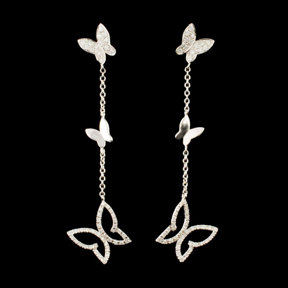 18K Gold 0.77ctw Diamond Earrings