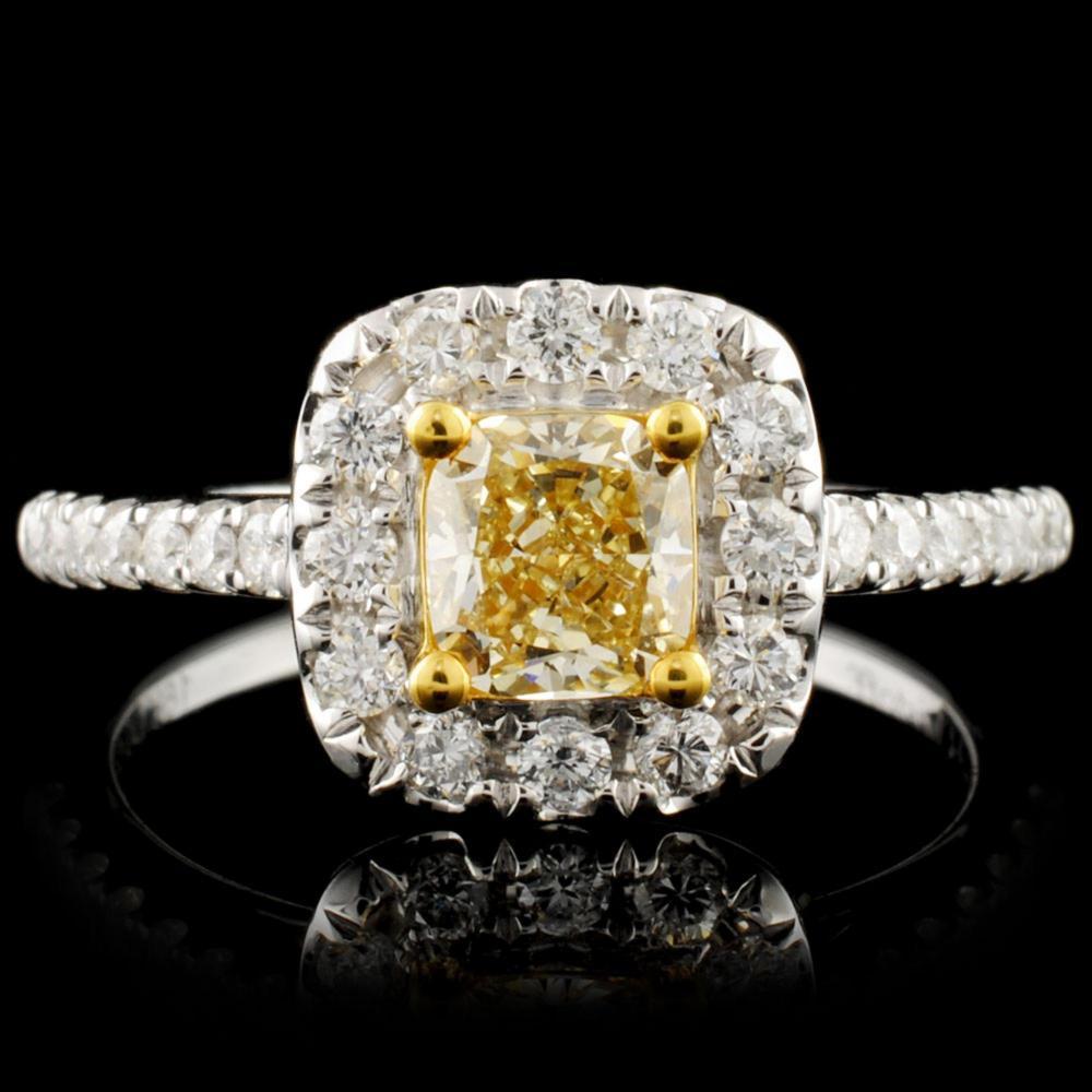 18K Gold 0.95ctw Fancy Diamond Ring