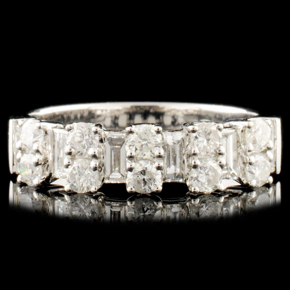 18K Gold 0.88ctw Diamond Ring
