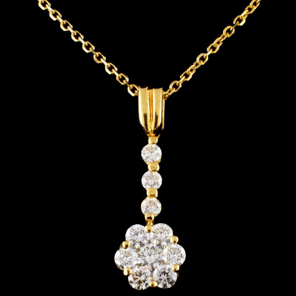 18K Gold 1.17ctw Diamond Pendant