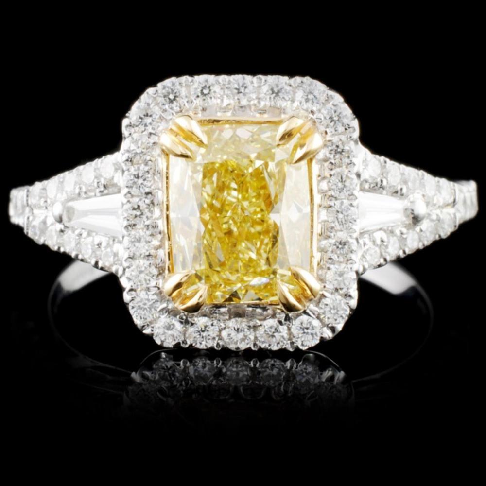18K Gold 1.90ctw Fancy Color Diamond Ring