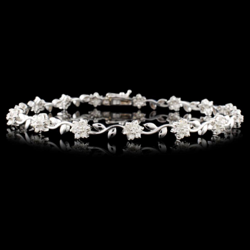 18K Gold 1.00ctw Diamond Bracelet