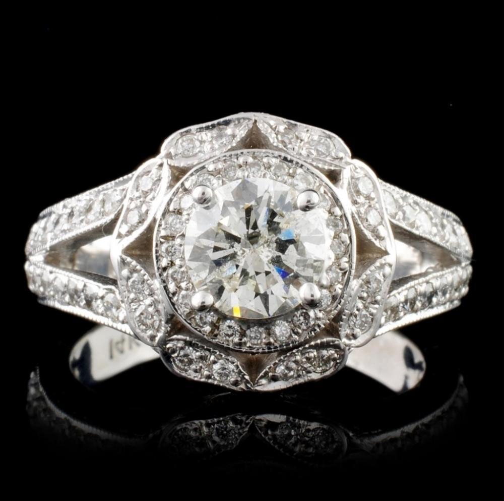 14K White Gold 2.96ctw Diamond Ring