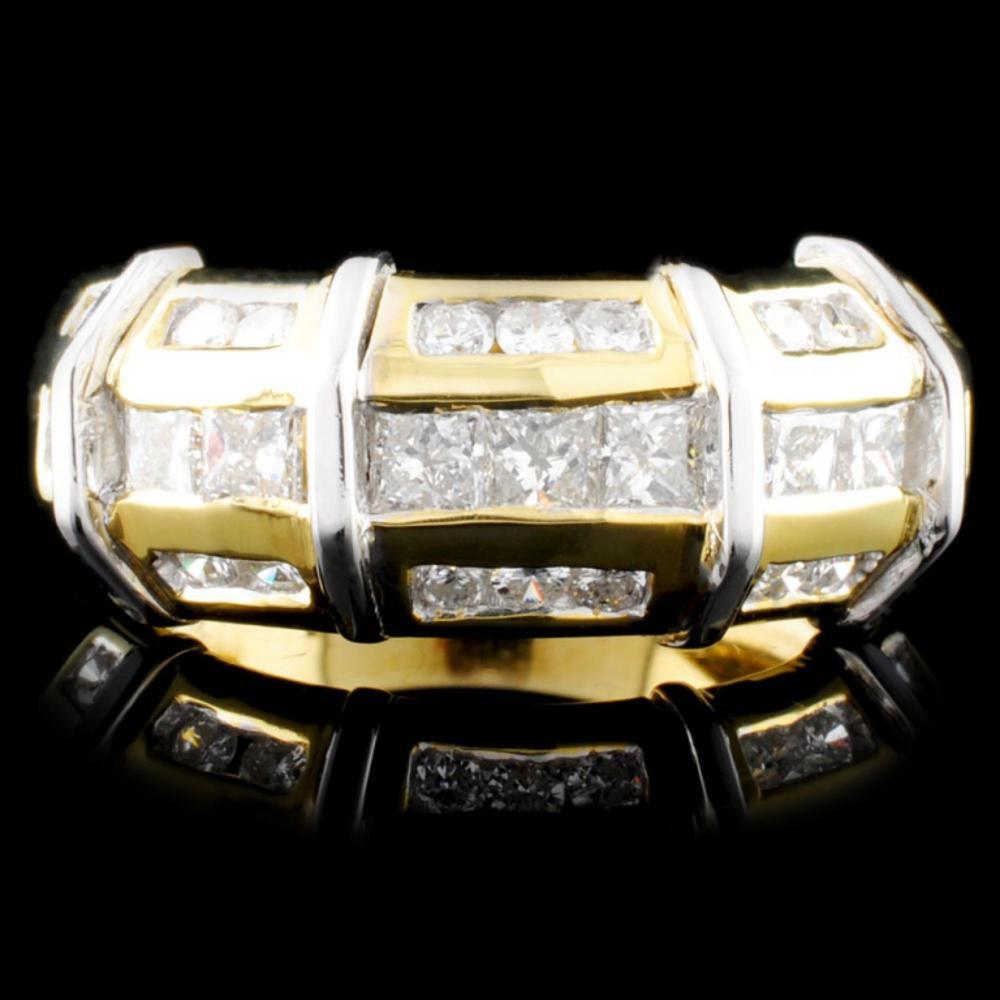 18K TT Gold 1.13ctw Diamond Ring