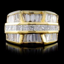 18K Yellow Gold 2.93ctw Diamond Ring
