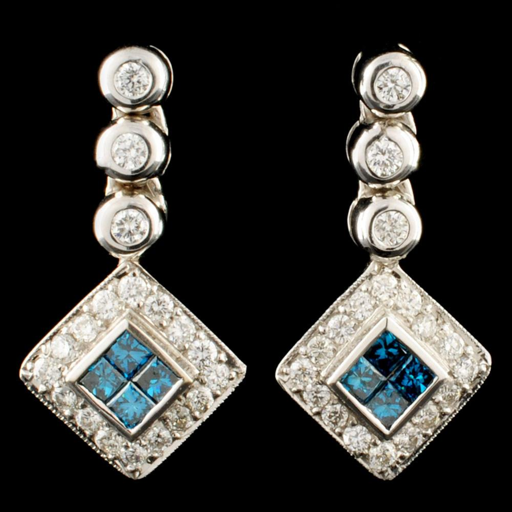 18K Gold 0.82ctw Diamond Earrings
