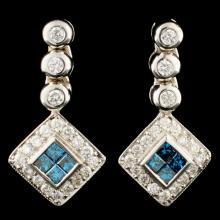 Lot 5: 18K Gold 0.82ctw Diamond Earrings