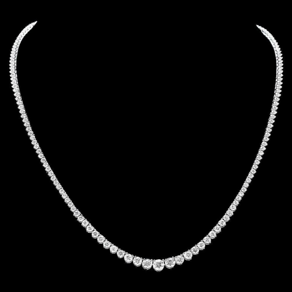 ^18k White Gold 12.00ct Diamond Necklace