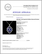 Lot 21: 18K Gold 7.10ct Kyanite & 0.86ctw Diamond Pendant