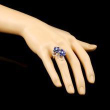 Lot 22: 18K Gold 4.90ctw Sapphire & 0.68ctw Diamond Ring