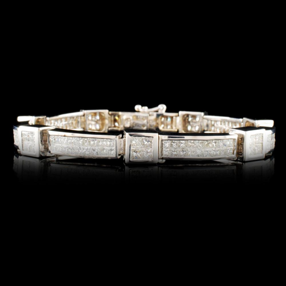 Lot 23: 18K Gold 8.82ctw Diamond Bracelet