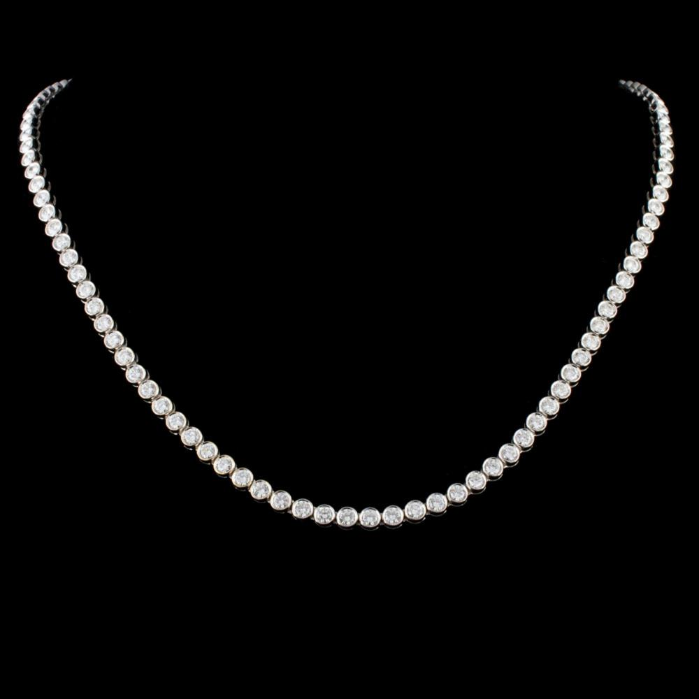 18K Gold 9.20ctw Diamond Necklace