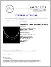 Lot 41: 18K Gold 7.10ctw Diamond Necklace