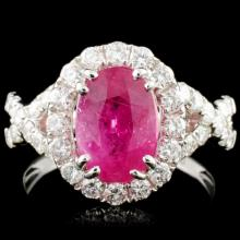 Lot 42: 18K Gold 2.81ct Ruby & 1.00cw Diamond Ring