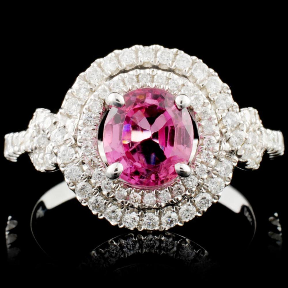 18K Gold 1.33ct Spinel & 0.53ctw Diamond Ring