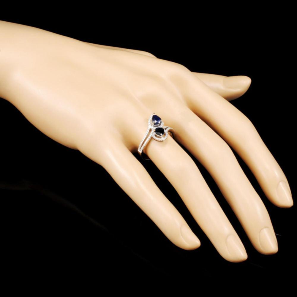 Lot 55: 18K Gold 0.96ct Sapphire & 0.26ctw Diamond Ring