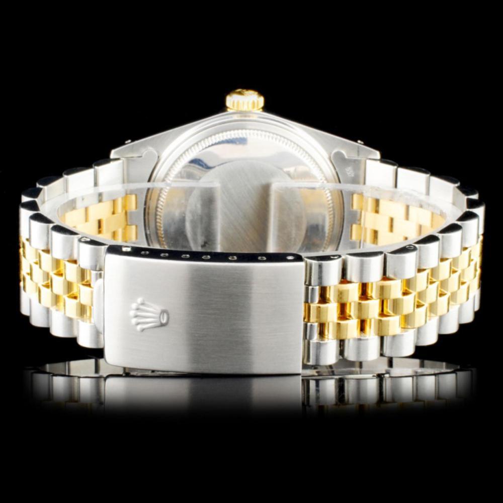Lot 59: Rolex DateJust YG/SS Diamond 36mm Watch
