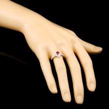 Lot 63: 18K Gold 0.70ct Ruby & 0.25ctw Diamond Ring