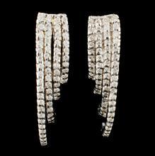 Lot 72: 18K Gold 0.68ctw Diamond Earrings