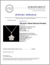 Lot 86: 18K Gold 1.00ctw Diamond Pendant