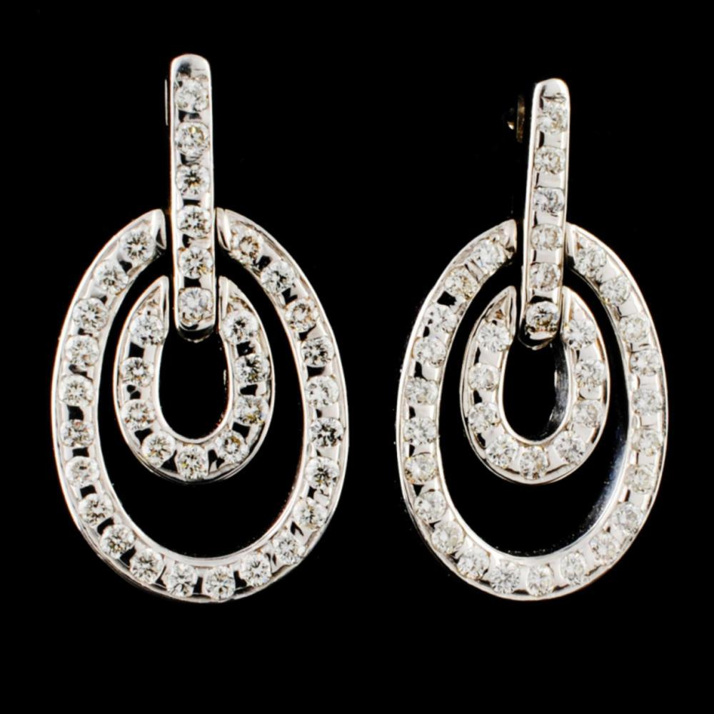 18K Gold 0.96ctw Diamond Earrings