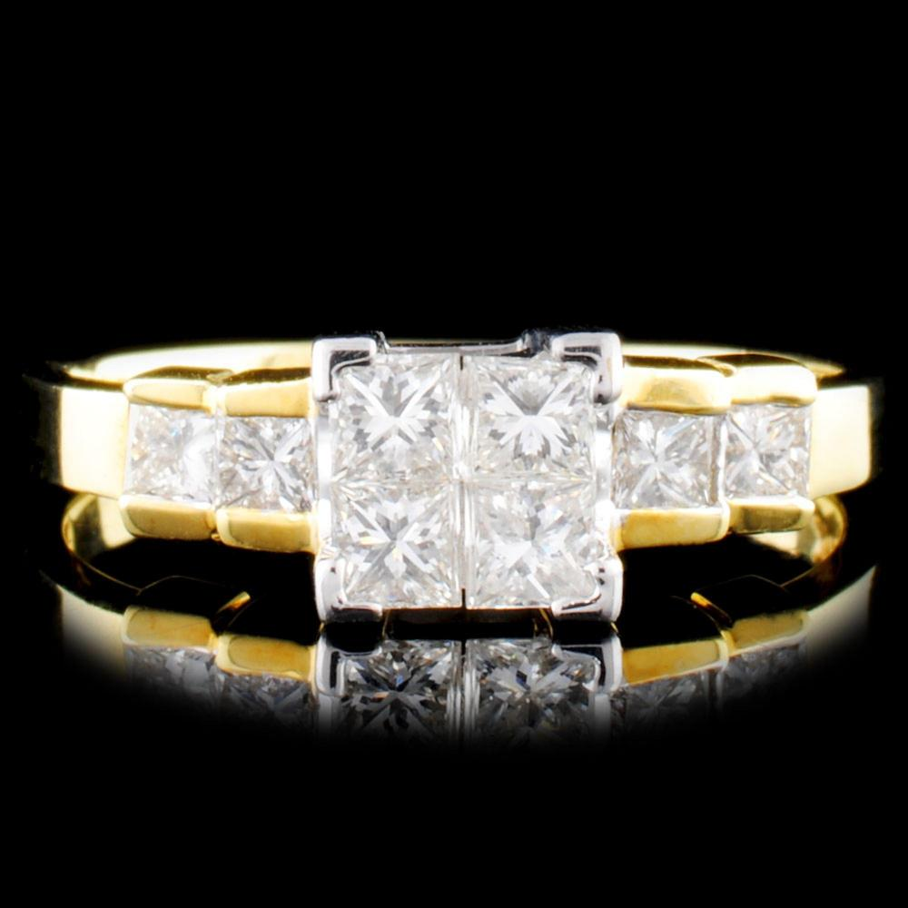 18K Gold 0.75ctw Diamond Ring