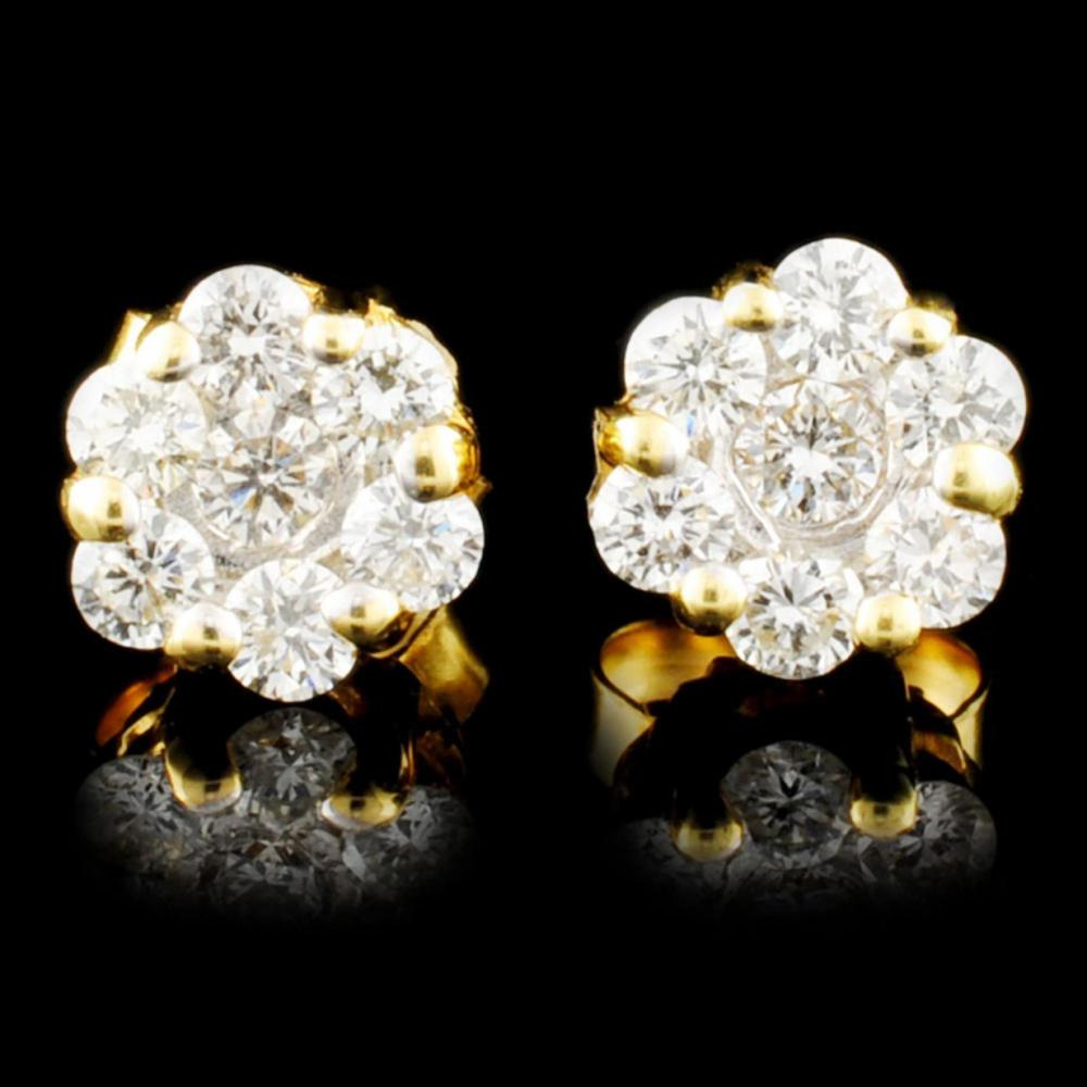 18K Gold 0.47ctw Diamond Earrings