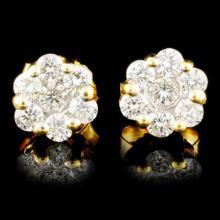 Lot 104: 18K Gold 0.47ctw Diamond Earrings